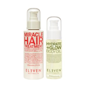 MIRACLE WITH BODY OIL - zestaw Miracle Hair Treatment 125 ml oraz Hydrate+Glow Body Oil 60 ml
