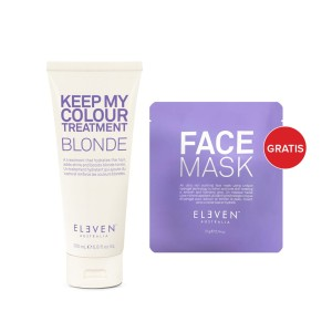 Eleven Australia Kuracja Keep My Colour Treatment Blonde 200 ml + Hydrogel Face Mask - kuracja do włosów blond + maska do twarzy gratis